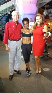 FITNESS EXPERT ELIZABETH COLEN WITH JACK & MEGAN