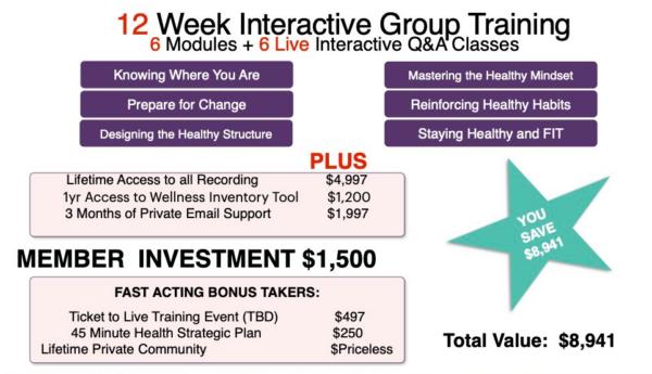 MsFitOne - 12 week interactive training